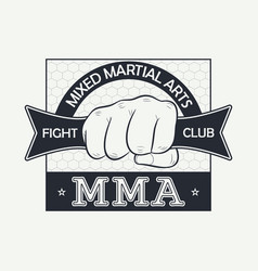 mixed martial arts fight club logo vector image