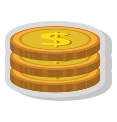 Money and business isolated flat icon vector image