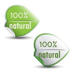 Natural stickers vector