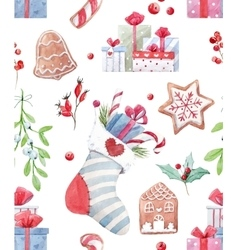 Nice christmas pattern vector