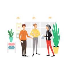 office people scene men and women taking part vector image