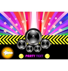 party flyer with rainbow vector image