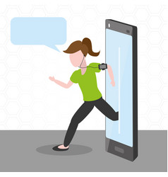 people tech device vector image