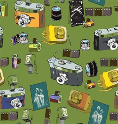 photo stuff pattern vector image