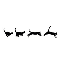 Running cat vector