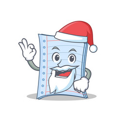 Santa notebook character cartoon design vector