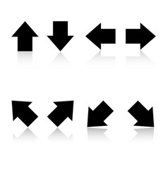 set of black arrows eps 10 vector image