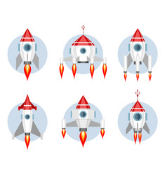 set of missiles vector image