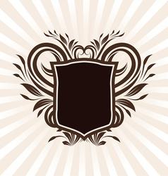 Shield Swirl Ornament vector image