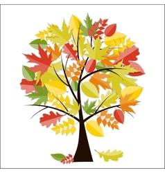 Shiny Autumn Natural Tree Background vector