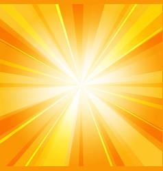 shiny sun radiator background vector image