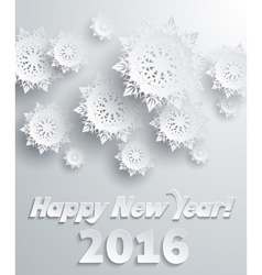 Snowflakes Background Happy New Year vector image