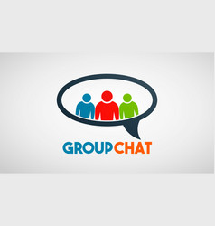 social group people communication logo vector image