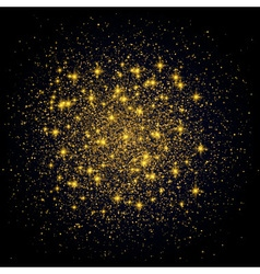 Sparkling background Gold Explosion on Black vector image