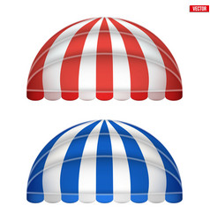 Sphere fabric awnings vector