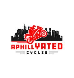 sport motorcycle logo design vector image