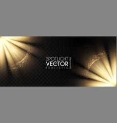 spotlights transparent light effect show design vector image