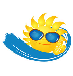 sun glasses and a wave vector image