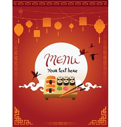 template design asian menu vector image