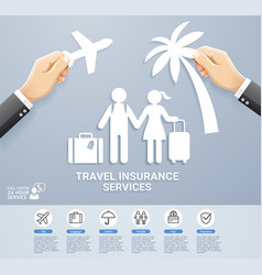travel insurance paper vector image