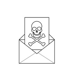 Virus in message icon image vector