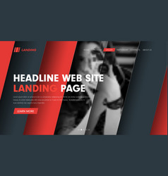 Web site header template with diagonal hovering vector