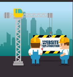 website under construction background vector image