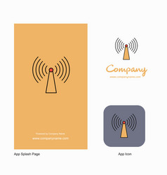 wifi company logo app icon and splash page design vector image