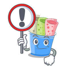 with sign rolled ice creams in cartoon cups vector image