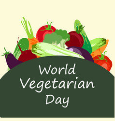 world vegetarian day concept vector image
