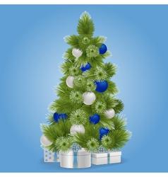 Christmas snowy tree vector
