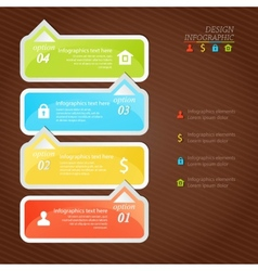 Design infographics four successive options with vector image vector image