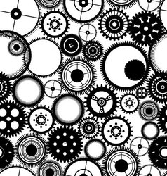 Gear seamless background vector image