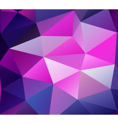Triangle background Purple polygons vector image