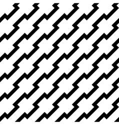 Black zigzag lines in diagonal arrangement vector image vector image