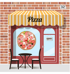 cafe pizza fast food vector image vector image