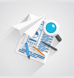 collage of office items vector image