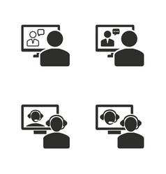 conferece icon set vector image
