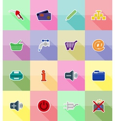 service flat icons 38 vector image vector image
