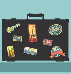 set of traveler sticker elements vector image vector image