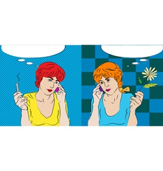 twins talking vector image vector image