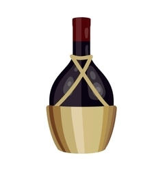Bottle of wine icon in cartoon style isolated on vector image vector image