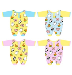 clothing for baby vector image