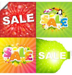 Colorful Sale Posters vector image vector image