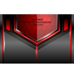 Geometric tech red background vector
