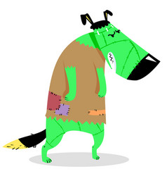 halloween dog character in costume of vector image