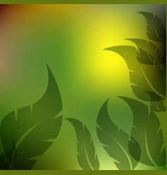 leaves green and yellow background vector image vector image