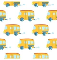 Seamless pattern of cartoon cars vector image