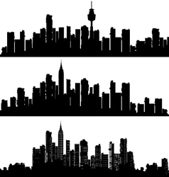 Silhouette skyline vector image vector image