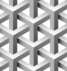 3d construction seamless pattern vector image